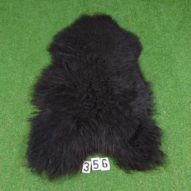 Zwarte IJslandse schapenvacht (125 x 75)