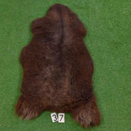 Dark brown sheepskin (120 x 60)