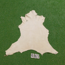 Fallow deer leather (white) 0.56 m²