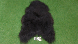 Zwarte IJslandse schapenvacht (110 x 70)