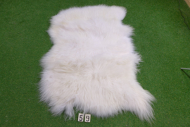 White Icelandic sheep rug (Trio) 170 x 100