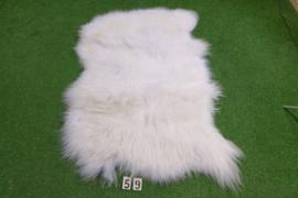 Wit IJslands schapenkleed (Trio) 170 x 100