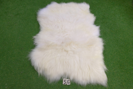 White Icelandic sheep rug (Trio) 165 x 100