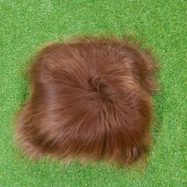 Brown cushion Icelandic sheepskin