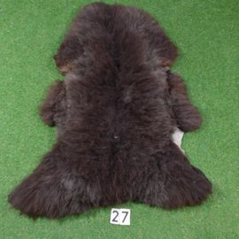 Bruin/zwarte  schapenvacht (125 x 80)