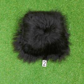 Black cushion Icelandic sheepskin
