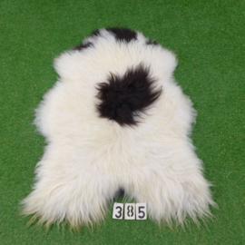 Black / white spotted Icelandic sheepskin (125 x 80)