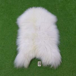 Witte IJslandse schapenvacht (120 x 65)