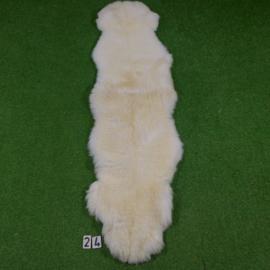 Wit kortharig schapenkleed (Duo) 210 x 60