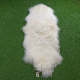 White Icelandic sheep rug (Duo) 210 x 75