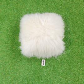 White cushion Icelandic sheepskin