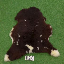 Dark brown / cream sheepskin (110 x 70)