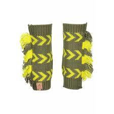 Beenwarmers BNosy groen/geel 1 maat