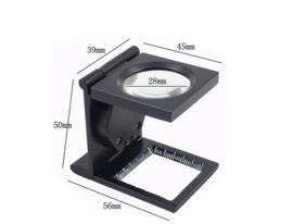 H162 Vergrootglas 5x met verlichting en schaal verdeling