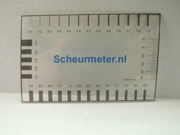 A512-1 Scheurwijdtemeter dun met logo per 10 st