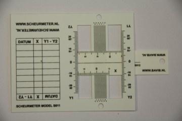 A161 Scheurmeter flexibel per st