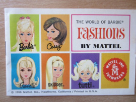 Boekje The World of Barbie Fashions (1966 uitgave)