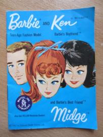 Boekje Barbie, Ken and Midge, blauw