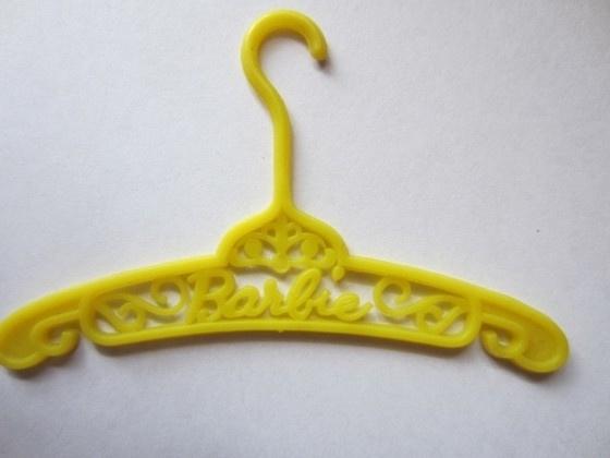Kledinghanger Barbie, geel