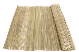 Gespleten Bamboemat Geel 150 x 500 cm