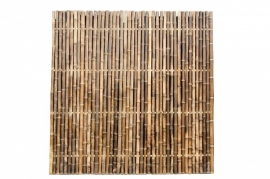 Bamboescherm180 x 180 cm  Zwart Extra dik