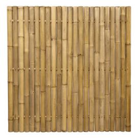 Bamboescherm 180x 180 cm  Geel extra dik stokdikte circa 6-8 CM