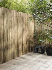 Gespleten Bamboemat Geel 100 x 500 cm