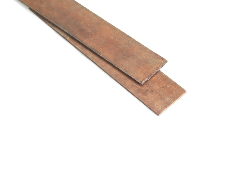 Buigstrips Hardhout 6 mm dik