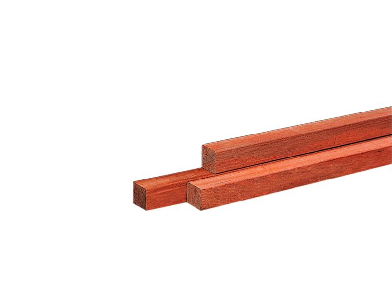 Hardhouten Paal dikte 60x60 mm Fijnbezaagd