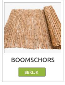 Boomschors, boomschors matten, boomschors rollen, Boomschors schutting