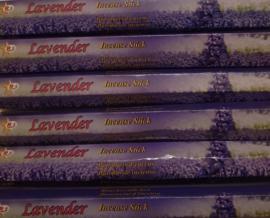 Wierook Lavendel - Doos met 6 pakjes á 15 stokjes