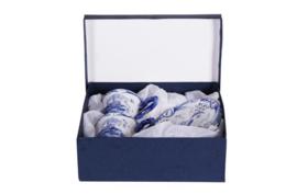 1 x Kop en Schotel Molen Set 2 stuks - Delfts Blauw. Met opengewerkte schotels. Zeer goede en mooie kwaliteit
