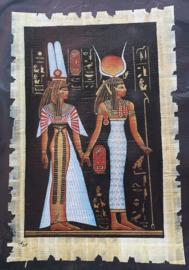 Papyrus - 30 x 20 cm - Hathor + Isis
