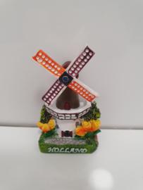 Magneten - Molen - Holland - 3D - Wieken kunnen draaien - Steen - 8 x 5 cm - Set 3 stuks