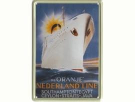 Oranje - Nederland-Line-20 x 30 cm