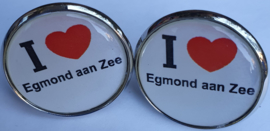 Manchet Knopen - Egmond aan Zee - I Love Egmond  - 2.5 x 2.5 x 2 cm