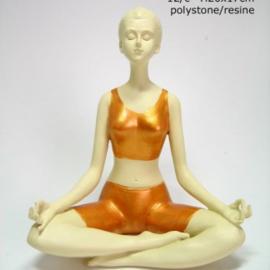 Yoga - Vrouw - Meditatie - 20 x 17 cm