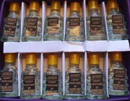 Lavendel Olie - Merk Hanky - Doos met 12 flesjes á 5 ml