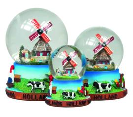 Sneeuwbol Holland Zaanse Schans 14 x 10 x 10 cm