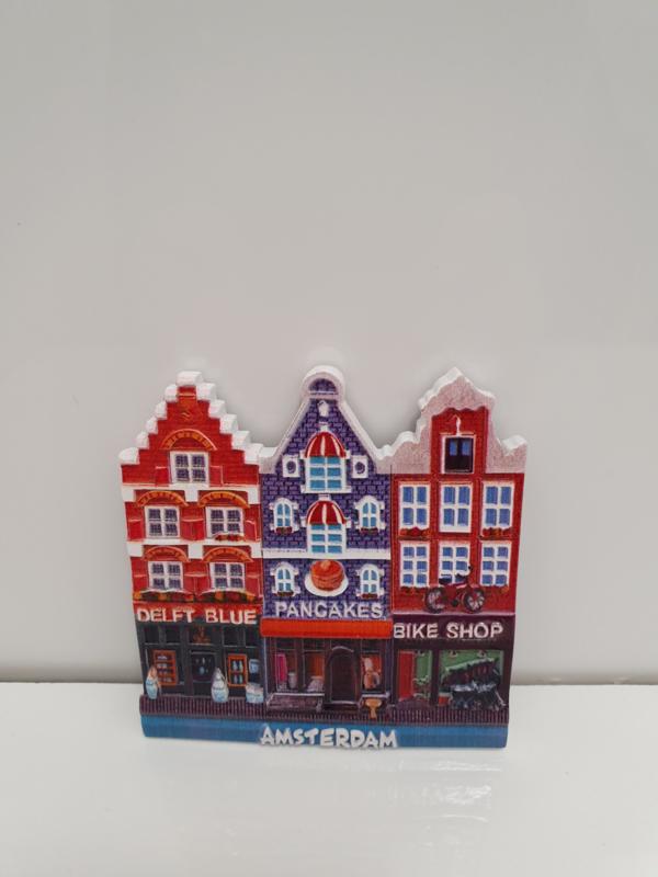 Magneten - Grachtenpandjes - Delft Blue - Pancakes - Bike Shop - 7 x 7 cm