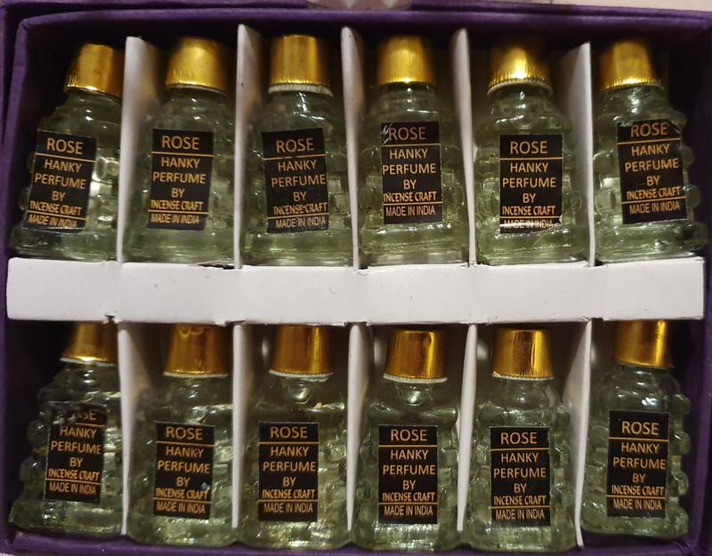 Rozen - Olie - Merk Hanky - Doos met 12 flesjes á 5 ml