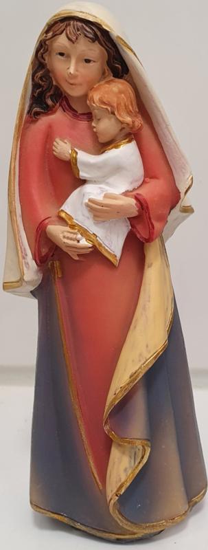 Madonna met Jezus - 12 x 4 x 4 cm