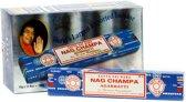 Nag Champa Agarbati - Pakket met 12 pakjes wierook á 15 stokjes