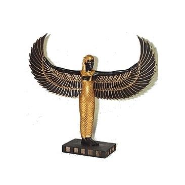 Hathor staand met vleugels van Maät