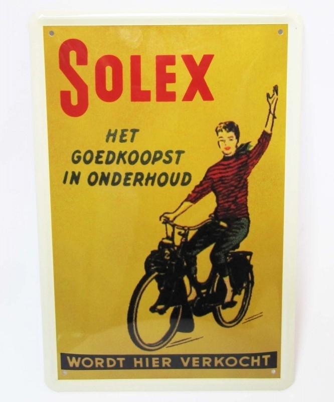 Bromfiets-Solex-20x30 cm