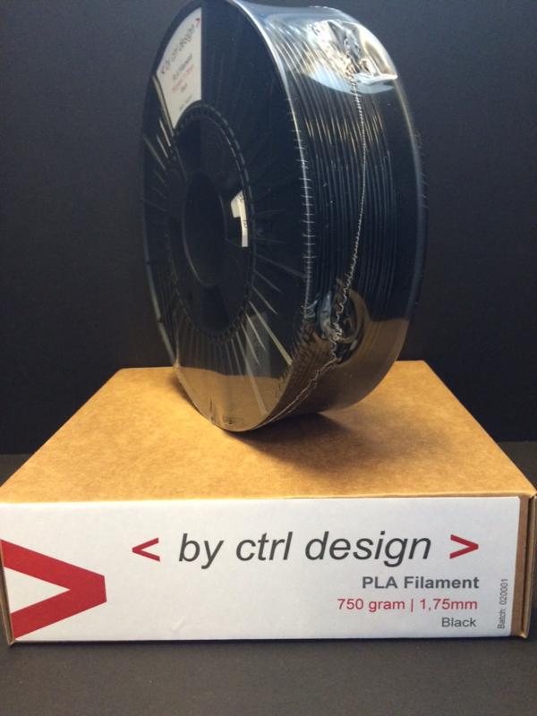 FLEX Filament Zwart 1,75mm op rol 750 gram