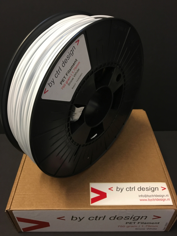 PET-G filament  Snow White 750 gram 1,75 mm / 2,85 mm (3mm)