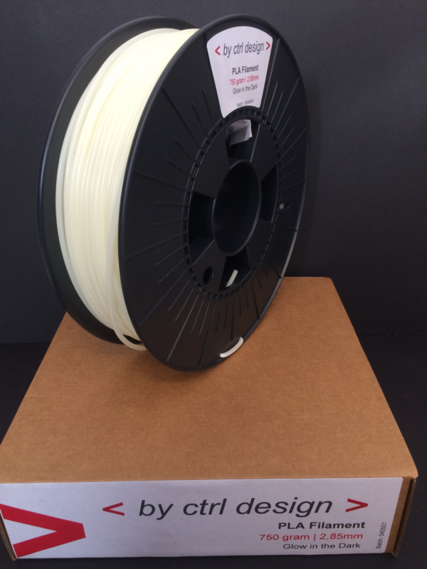 PLA Glow in the Dark  750 gram 1,75mm / 2,85mm (3mm)