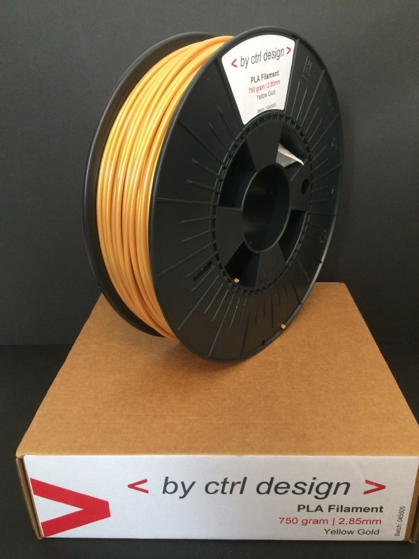 PLA Yellow Gold 750 gram 1,75mm / 2,85 mm (3mm)