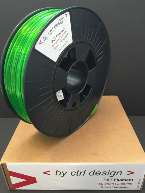 PET-G filament Green Transparant  750 gram 1,75 mm / 2,85 mm (3mm)